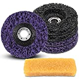 """Angle Grinder Aircraft Paint Remover Rust Stripper for Wood Metal and Concrete, Coarse and Fine Strip Discs Stripping Grinder Wheel Grinding Discs (5 Pack & 4 1/2""""×7/8"""")"""