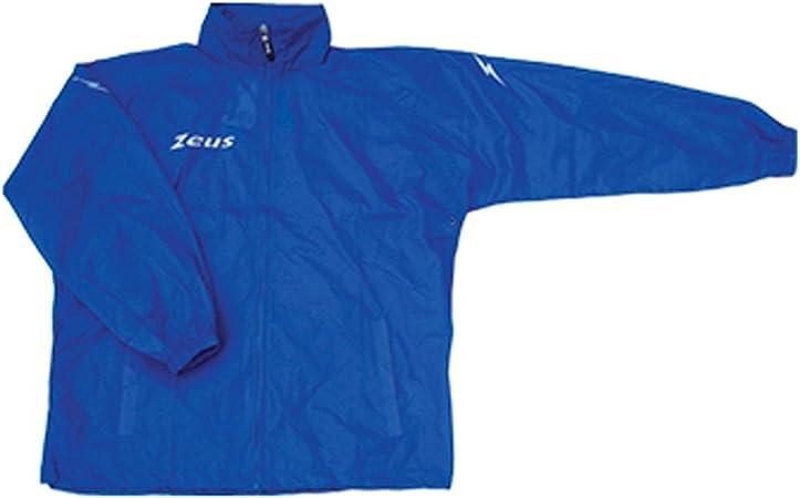 Zeus Herren Regenjacke K Way Wasserdicht Running Lange /Ärmel Fu/ßball Laufen Training Sport RAIN Jacket Runner M//L ORANGE Fluo S