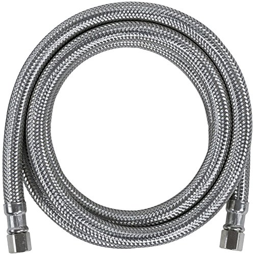 Certified Appliance Accessories Ice Maker Water Line, 4 Feet, PVC Core with Premium Braided Stainless Steel