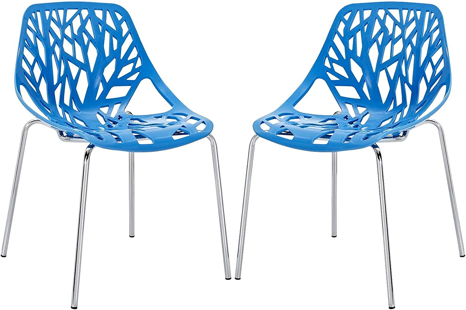 Modway Stencil Charlotte Mall Now free shipping Modern Stacking Two Dining Chair Room Kitchen and