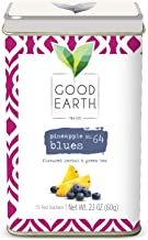 Good Earth Tea Pineapple Blues - Light and refreshing, tropical fruits, sweet berries, exotic flowers - Flavored Herbal & Green Tea