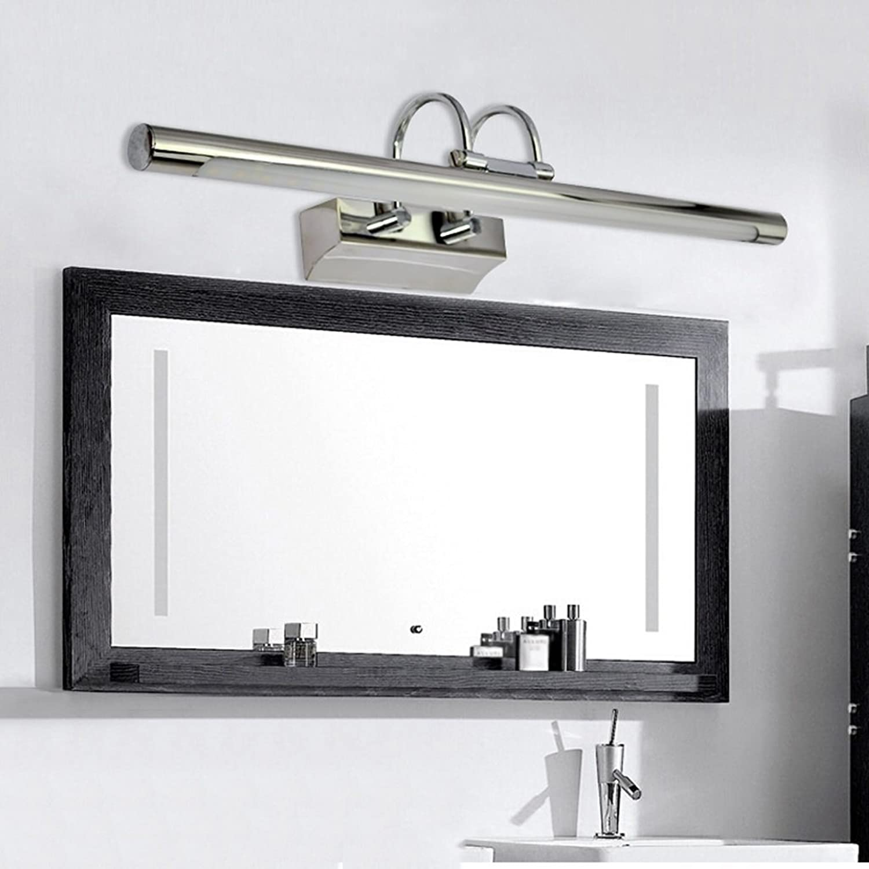 Home Led Spiegelleuchte Edelstahl einfache Wandleuchte Badezimmer, Spiegelschrank Lichteinstrahlung Winkel einstellbar (Farbe  Warmes, weies Licht -40 cm 7 W)
