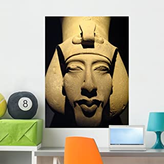 Statue Pharaoh Akhenaten Also Wall Mural by Wallmonkeys Peel and Stick Graphic (36 in H x 27 in W) WM200265