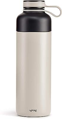 Lékué Go Insulated Bottle, 16.9oz, Gray