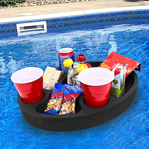 Polar Whale Floating Mini Bar Drink Holder Refreshment Table Tray for Pool Beach Party Float Lounge Durable Foam 17 Inches Large 7 Compartments UV Resistant