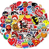 Brand Logo Stickers 100 Pack Decals for Laptop Computer Skateboard Water Bottles Car Teens Sticker