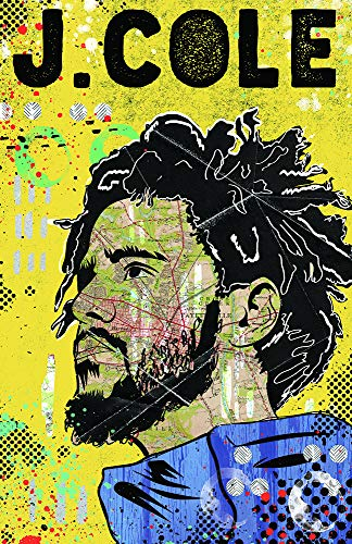 J. Cole - Pop Art Poster/Wall Art/Limited Edition of 100 / Hip Hop