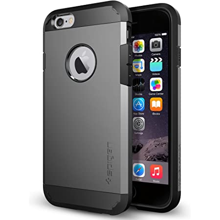 Spigen Tough Armor Designed for iPhone 6 (2014) / Designed for iPhone 6s (2015) - Gunmetal