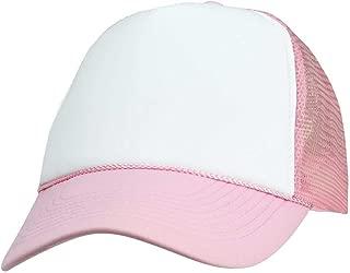 2 Packs Baseball Caps Blank Trucker Hats Summer Mesh Cap Flat Bill or Chambray Hats (2 for Price of 1)