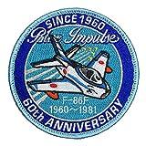 自衛隊グッズ ワッペン ブルーインパルス 60th F-86F パッチ ベルクロ付