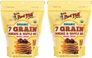 Bob's Red Mill Organic 7 Grain Pancake & Waffle Mix 24 oz (Two Pack) - Multigrain Organic Pancake and Waffle Mix - Double ...