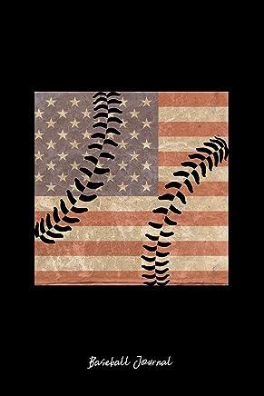 Baseball Journal: Lined Journal - USA Flag Baseball Vintage Softball Baseball Player Gift - Black Ruled Diary, Prayer, Gratitude, Writing, Travel, Notebook For Men Women