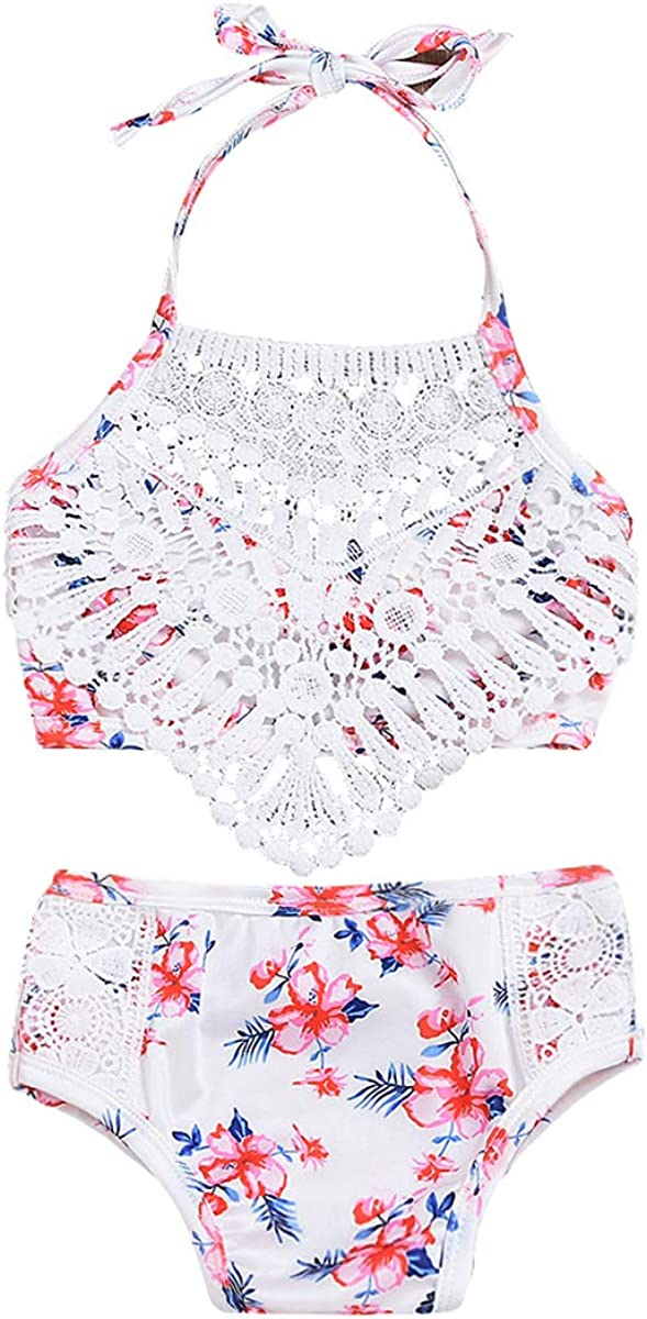 Toddler Baby Girl Swimsuit Floral Year-end annual account Flower Shell Sling low-pricing Lace Bikini