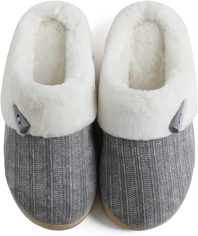 NineCiFun Women's Comfy Fuzzy Slippers Indoor Outdoor House Slippers