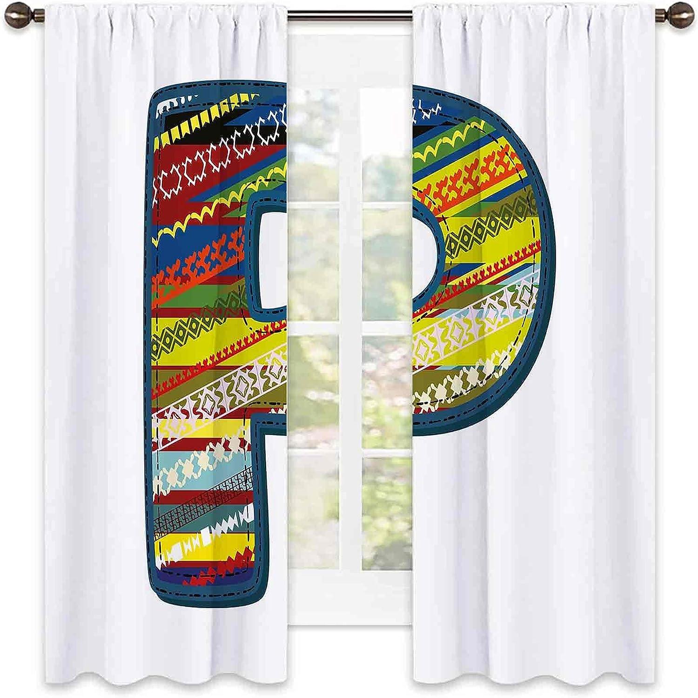 Latest item Letter P Wear Resistant Color Curtain Max 49% OFF Boho St Alphabet