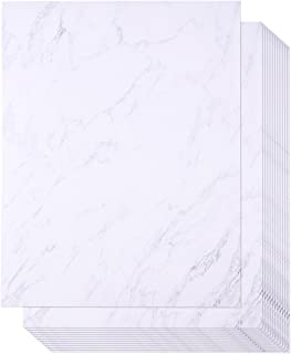 96 Pack Marble Stationery Paper - Letterhead - Decorative Design Paper - Double Sided - Printer Friendly, 8.5 x 11 Inch Letter Size Sheets