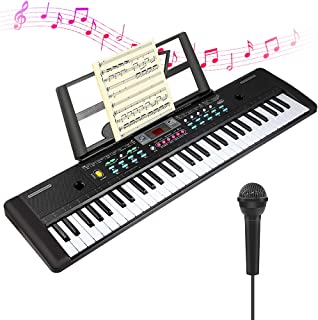 $35 » CHUYANG 61 Keys Keyboard Piano, Electronic Digital Piano with Built-In Speaker, Microphone, Sheet Stand and Power Supply, Portable Keyboard Gift Teaching Toy