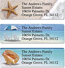 Colorful Images Calm Seas Personalized Return Address Labels – Classic Self-Adhesive, Flat-Sheet (3 Designs), 240 Labels