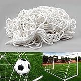 feierna Red para Portería De Fútbol(3.6 X 1.8 M De Profundidad Superior 0.50/Inferior1.20m) Niños Blanca