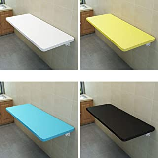 Wall-Mounted Drop-Leaf Table Foldable Convertible Workstation Desk One-Word Partition for Bathroom/Kitchen/Study Room Wall, Space Saving Hanging Table