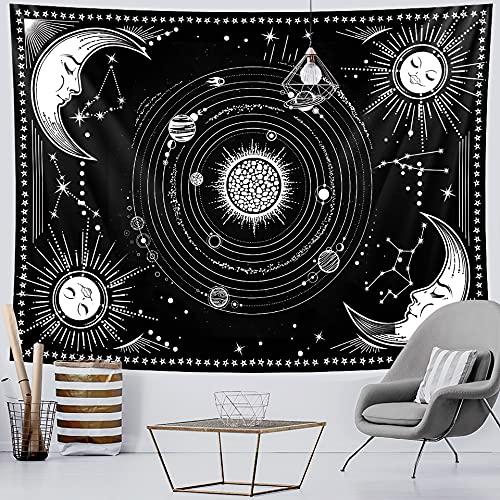 PPOU Hechizo Manta de Pared brujería decoración del hogar Tapiz Hippie Bohemio Fondo de Pared Tela Colgante Manta de Tela A5 130x150 cm