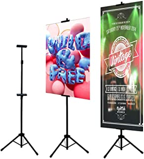 Double Easel Stand Floorstanding Sign Stand,Poster Holder Tripod Poster Frame Double-Sided Poster Stand,Movie Poster Board