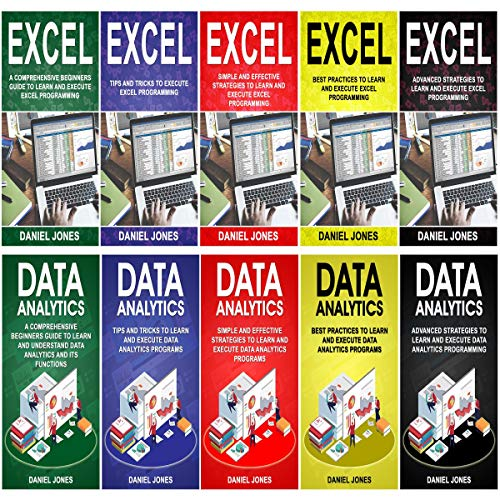 Couverture de Programming for Beginners: 10 Books in 1- 5 Books of Excel Programming+ 5 Books of Data Analytics