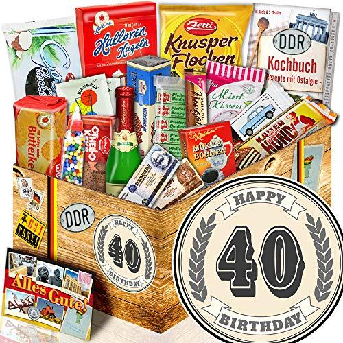 40 Geburtstag + Ostbox mit Süßigkeiten + Ideen Geburtstagsgeschenk Freund