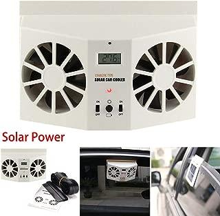 JUST N1 Mini Solar Powered Car Window Fan Air Vent Ventilator Portable Auto Air Conditioner Fan Cooler Eliminate Pet and Tobacco Odor