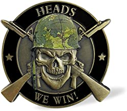 Heads We Win Tails You Lose Challenge Coin US Army Skull Coin