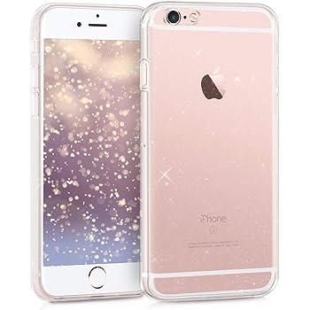 kwmobile Hülle kompatibel mit Apple iPhone 6 / 6S - Handyhülle - Handy Case Glitzer Uni Transparent