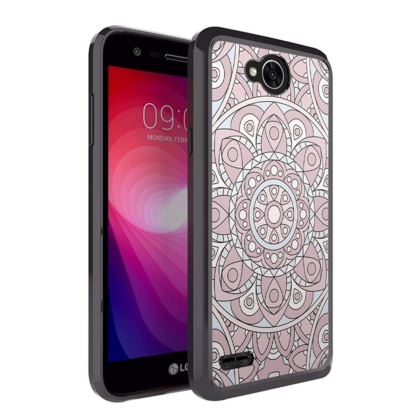 Moriko Case Compatible with LG Fiesta 2, LG X Power 2, LG X Charge, Fiesta LTE, K10 Power, LS7 4G LTE [Drop Protection Slim Bumper Case Black] for LG X Power 2 - (Mauve Bohemian)