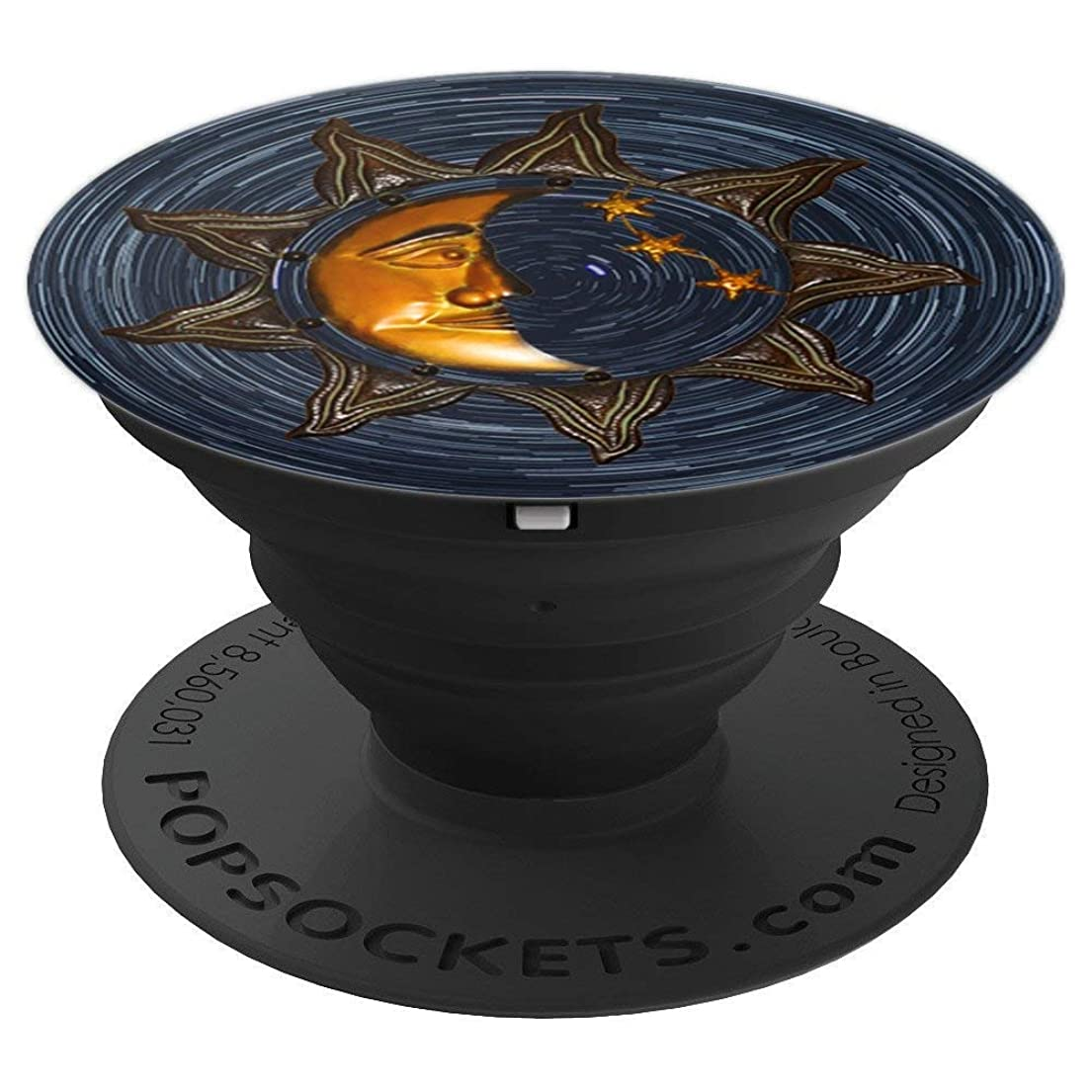 Gold and Black Vintage Moon Sun and Stars & Design - PopSockets Grip and Stand for Phones and Tablets gjxiy3805789589