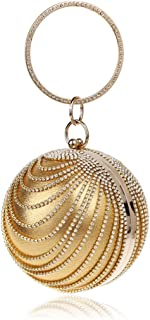 Spherical Evening Clutch Elegant Female Handbag Banquet Bag Round Ball Dazzling Rhinestone Tassles Purse