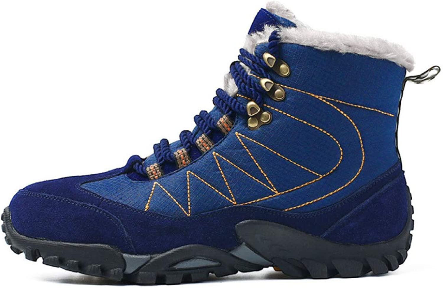 GAOYY Men Outdoor Sports Snow Boots Camping Hiking Work Combat Lace shoes Sneakers Up Breathable High Top Desert Booties Large Size:5-11.5
