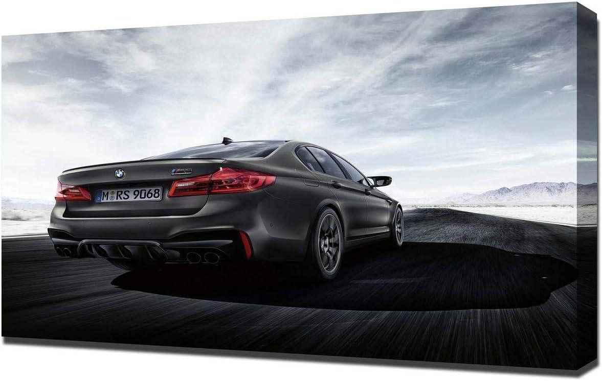 Lilarama (Compatible with 2019-BMW-M5-Edition-35-V4- Art Leinwandbild – Kunstdrucke – Gemälde Wandbilder