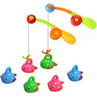 Bathtub Fun Toys Fishing Game with Cute Spotted Fish and Fishing Rod