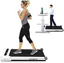Goyouth 2 in 1 Under Desk Electric Treadmill Motorized Exercise Machine with Wireless Speaker, Remote Control and LED Disp...