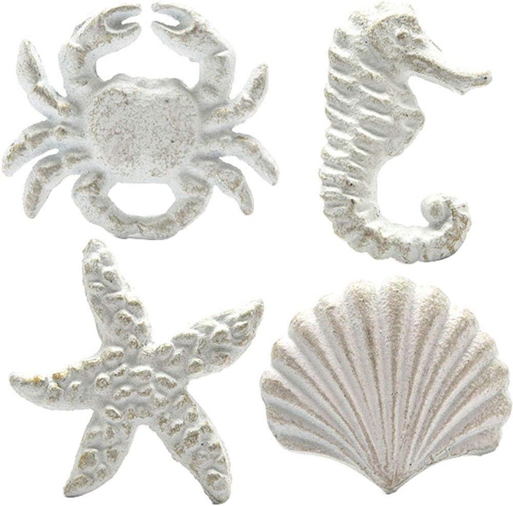 Set of Six 0184-0034 Unique Cast Iron Seashell Handle