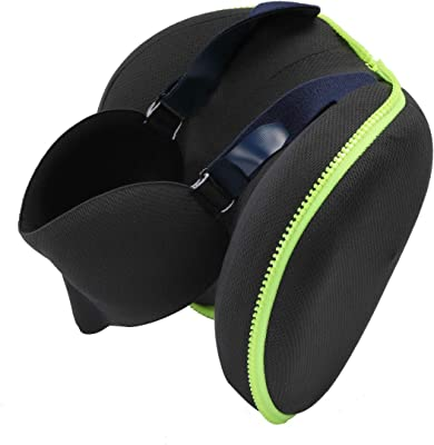 Memory Foam Traveling Blindfold Neck Pillow,Deluxe Foldable Storage Pillow Comfortable Sleep Eye Mask, Best Partner for Traveling and Office Naps