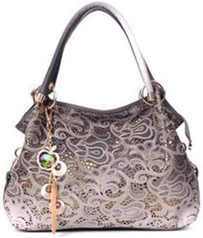 Yukun Umhängetasche Polyester Volltonfarbe Schultertasche Diagonal Cross Bag Handtasche Handtasche Handtasche High-End Fashion Hohl Handtasche, Grau B07G6Y2V2Q  Neue Produkte im Jahr 2019 2d78b1