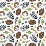 Star Wars Fabric S.W. Rebels in White Cotton Fabric by The Yard