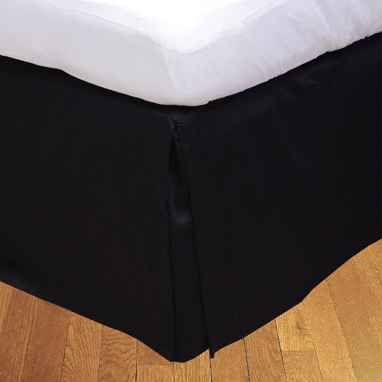 LaxLinens 250 fils cm2, 100%  coton, finition élégante 1 jupe plissée de chute lit Longueur    26  - Royaume-Uni-Super King-Noir