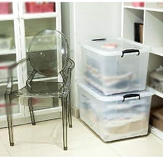 MU Bois Massif de boîte de Rangement portatif de ménage, Paquet de 2 épaississements de Plastique de ménage en Plastique Q...