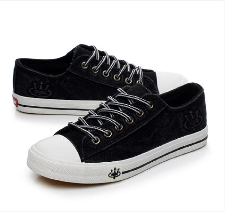 XUEXIN Tide student flat low canvas sneakers denim women shoes women's shoes