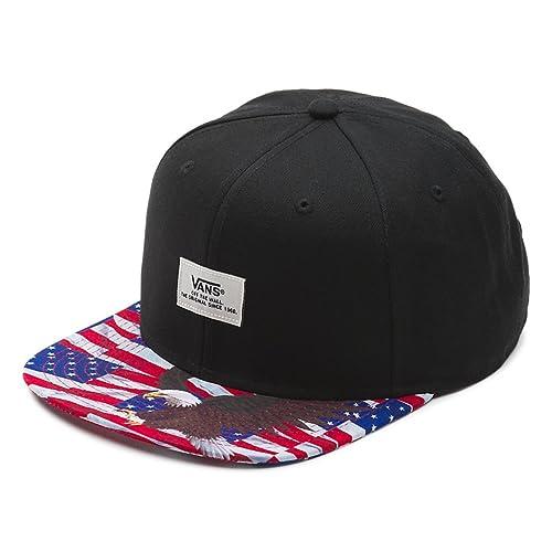 9fef18cb75c Vans Off The Wall Men s Walmer Snapback Hat Cap - Black American Eagle