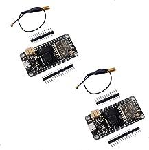 DIYmall LoRa32u4 LORA RA-02 Module Development Board Long Range Communication 1KM LiPo Atmega32U4 SX1278 for Arduino(Pack of 2 Sets)