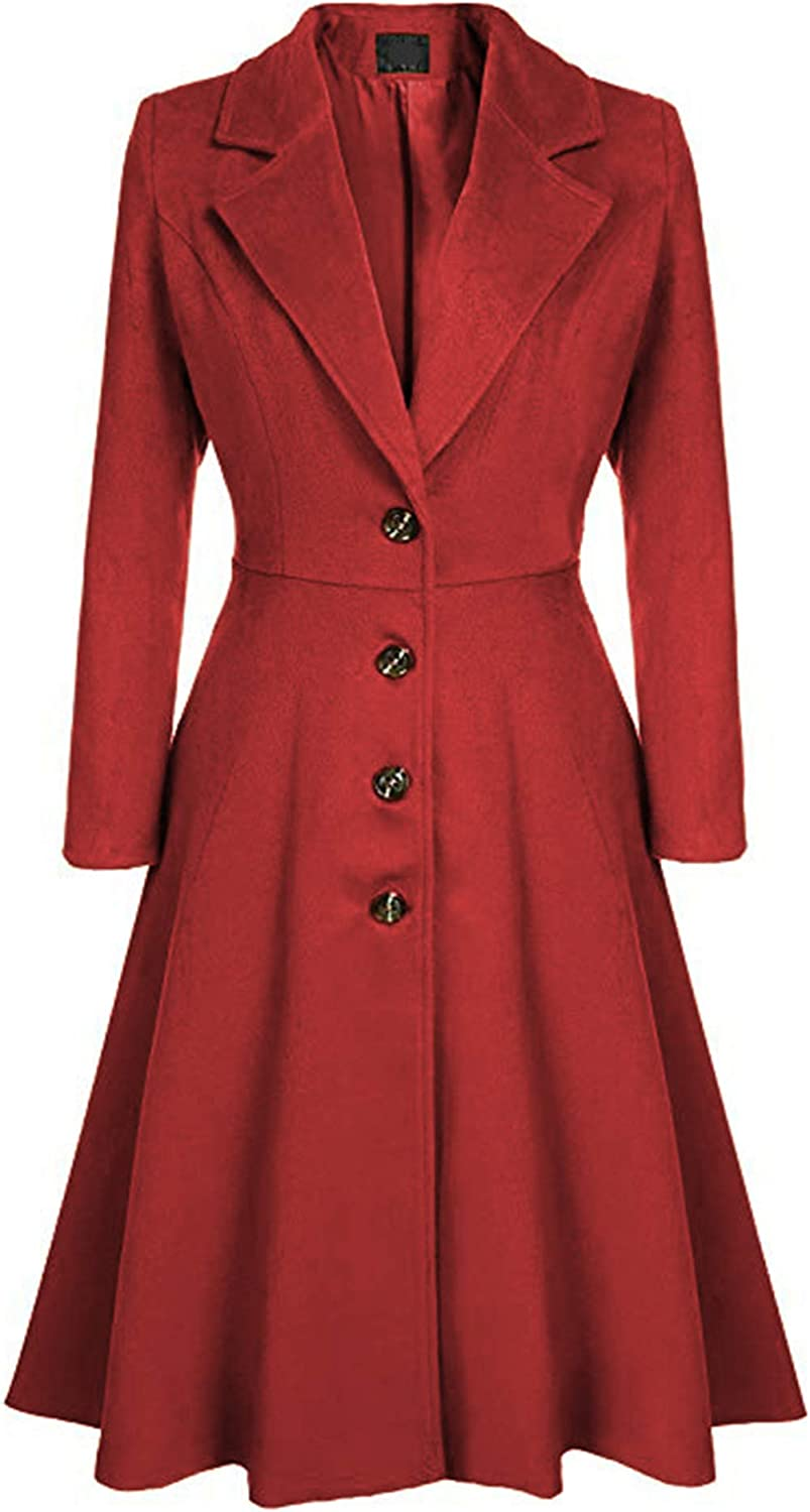 FLITAY Womens Trench Max Free Shipping Cheap Bargain Gift 58% OFF Plus Size Casual Pea coat Waist Hood Empire