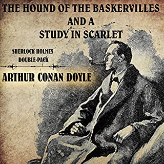 The Hound of the Baskervilles and A Study in Scarlet audiobook cover art