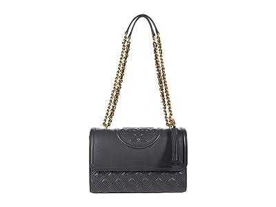 Tory Burch Fleming Convertible Shoulder Bag (Overcast) Handbags
